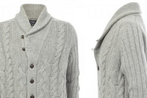 Hackett Chunky Cable Knit Cardigan