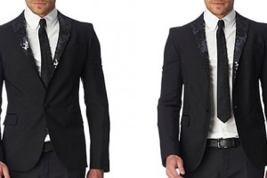 Dsquared2 Sequinned-Lapel Jacket