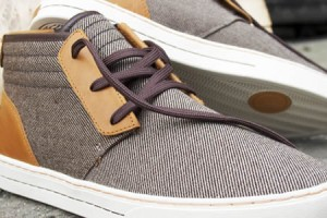 Clae McQueen Brown Twill Shoe